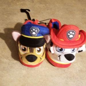 Nickelodeon Toddler Boys Red Paw Patrol Slippers P